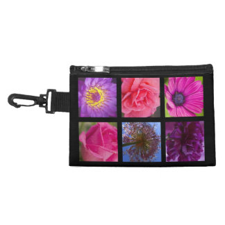 Pink and Purple Flowers Accessories Bag