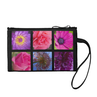 Pink and Purple Flowers Coin Purse