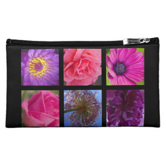Pink and Purple Flowers Cosmetic Bag