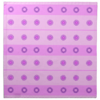 Pink and Purple Flowers Pattern Printed Napkin