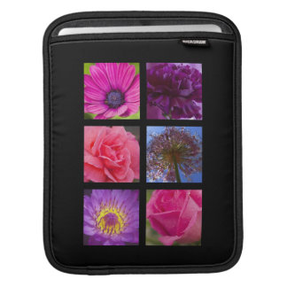 Pink and Purple Flowers Sleeve For iPads