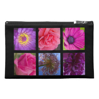 Pink and Purple Flowers Travel Accessories Bags