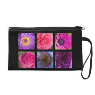 Pink and Purple Flowers Wristlet