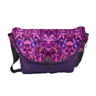 Pink and Purple Foliage on Any Color Courier Bag