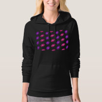 Pink and Purple Football Pattern Hoodie