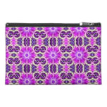 Pink and Purple Fractal Mandala Travel Accessories Bags