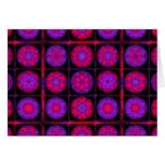 Pink and Purple Fractal Mandala Greeting Cards