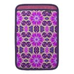 Pink and Purple Fractal Mandala MacBook Air Sleeves