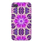 Pink and Purple Fractal Mandala iPhone 4 Covers