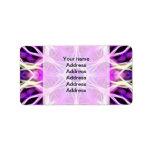 Pink and Purple Fractal Mandala Labels