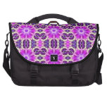 Pink and Purple Fractal Mandala Laptop Commuter Bag