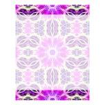 Pink and Purple Fractal Mandala Customized Letterhead
