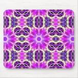 Pink and Purple Fractal Mandala Mousepads