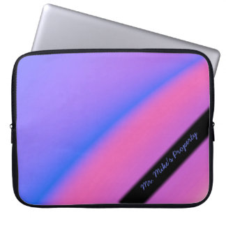 Pink and Purple Fractal Personal Laptop Sleeve