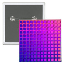 Pink and Purple Funky Squares Pattern Button
