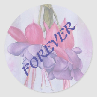 PINK AND PURPLE FUSCHIA WEDDING STICKERS