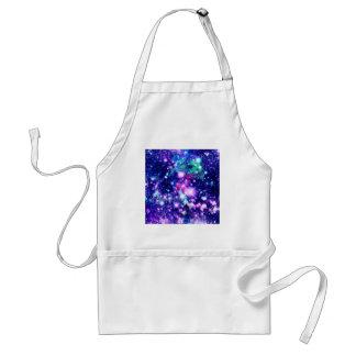 Pink and Purple Galaxy Stars Adult Apron