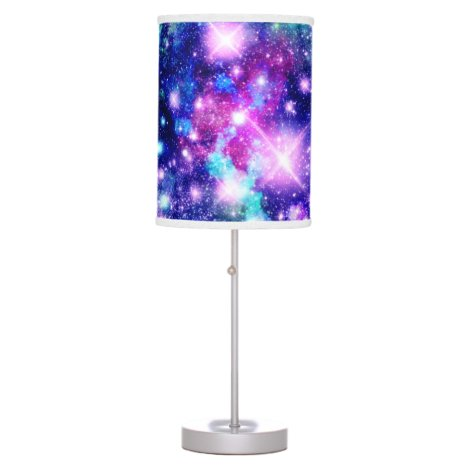 Pink and Purple Galaxy Stars Table Lamp