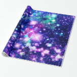 Pink And Purple Galaxy Stars Wrapping Paper at Zazzle