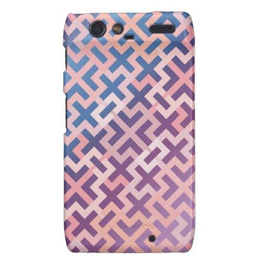 Pink and Purple Geometric Crosses Dry Phone Case Droid RAZR Case