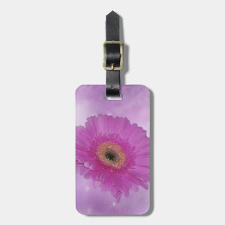 Pink and purple Gerber Daisy Tag For Bags