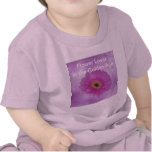 Pink and purple gerber daisy t-shirt