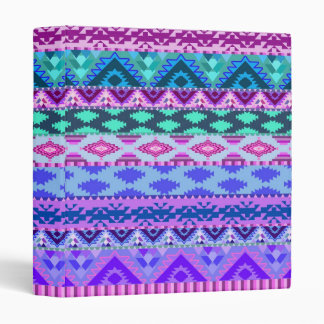Pink and Purple Girly Aztec 3 Ring Binder