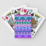 Pink and Purple Girly Aztec Bicycle Playing Cards