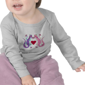 Pink and Purple Girly Geckos Shirt