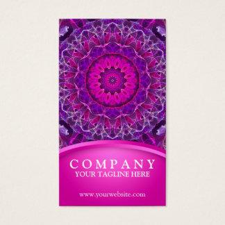 Pink and Purple glowing mandala - pink design Business Card