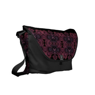 Pink and purple hearts Messenger Bag