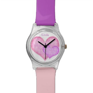 Pink and Purple Hearts Watch