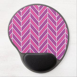 Pink and Purple Herringbone Pattern Gel Mouse Pad