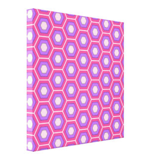 Pink and Purple Hex Tiled Canvas