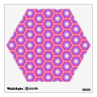 Pink and Purple Hex Tiled Wall Decal