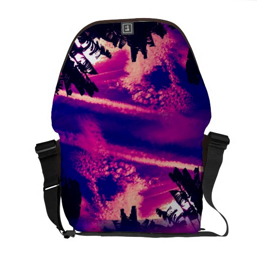 Pink and Purple Interesting Sky Courier Bag