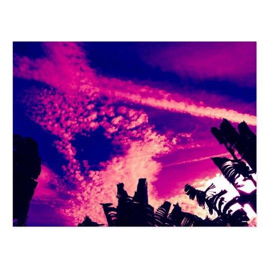 Pink and Purple Interesting Sky Postcard