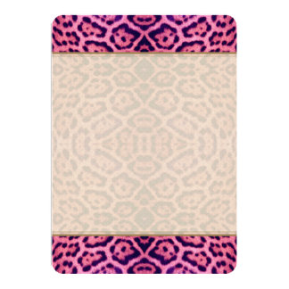 Pink and Purple Jaguar Fur Card