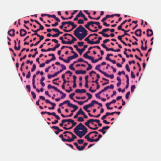 Pink and Purple Jaguar Fur Guitar Pick