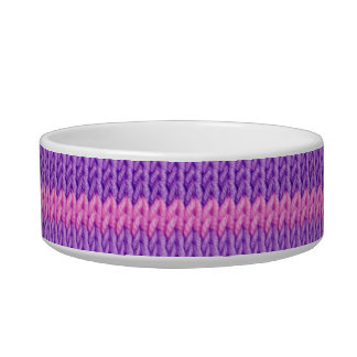 Pink and Purple Knit Bowl
