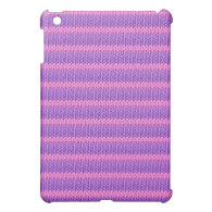 Pink and Purple Knit iPad Mini Case