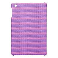 Pink and Purple Knit iPad Mini Case