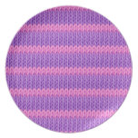 Pink and Purple Knit Party Plate