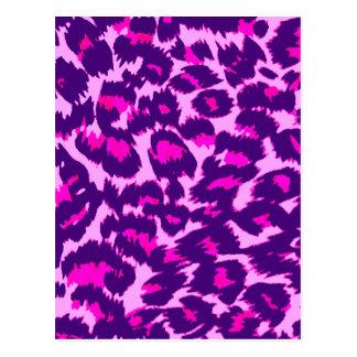 Pink and Purple Leopard Spots Postcard