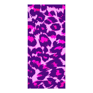 Pink and Purple Leopard Spots Customized Rack Card