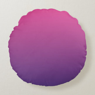 Pink And Purple Round Pillow