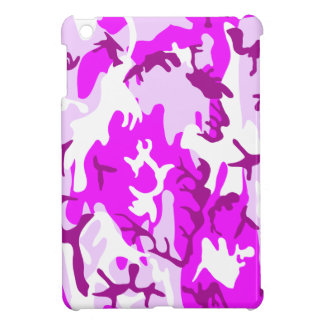 Pink and Purple Military Camo Cover For The iPad Mini