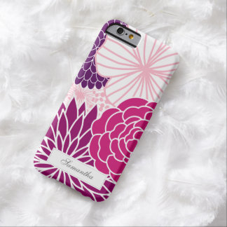 Pink and Purple Mod Floral Barely There iPhone 6 Case