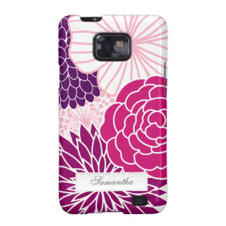 Pink and Purple Mod Floral Samsung Galaxy S2 Case