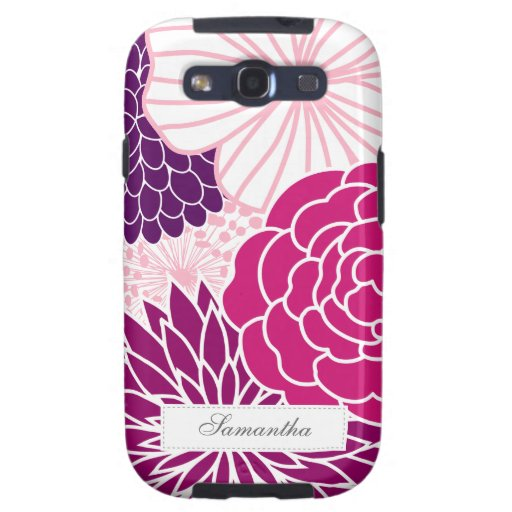 Pink and Purple Mod Floral Samsung Galaxy S3 Case